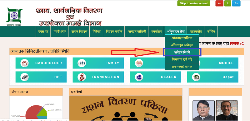 Jharkhand New Ration card Online Apply