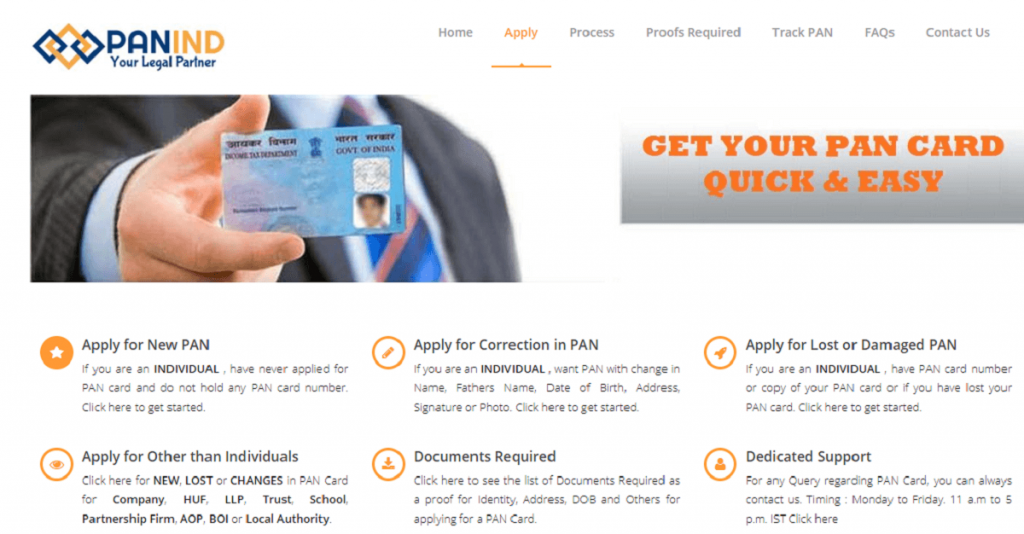 Apply online for New PAN Card