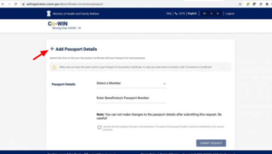 How to link COVID Certificate with Passport